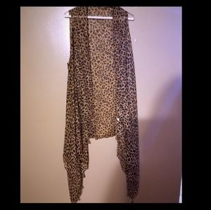 Jackets & Blazers - Leopard vest - new never worn